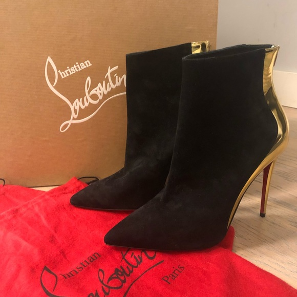 2be76f71494 🆕 Christian Louboutin Delicotte Suede/Metallic👢 NWT